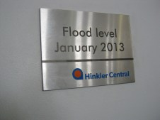 Flood level - a year ago