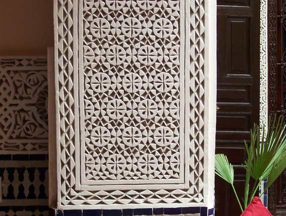 Christine DeMerchants Photos Of Morocco Carved Plaster