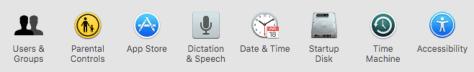 settings on a mac