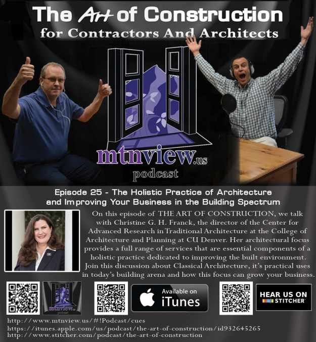 Christine G. H. Franck featured on The Art of Construction podcast.