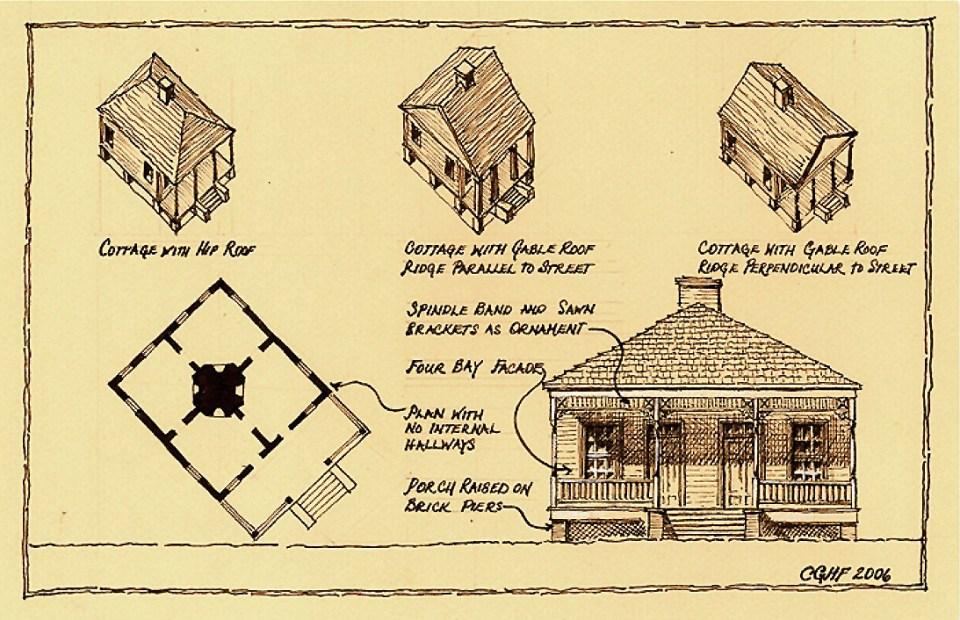 A study of the Biloxi Cottage, Christine G. H. Franck, 2006.
