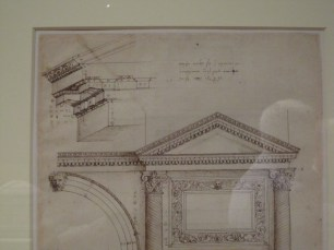 Detail of study by Palladio