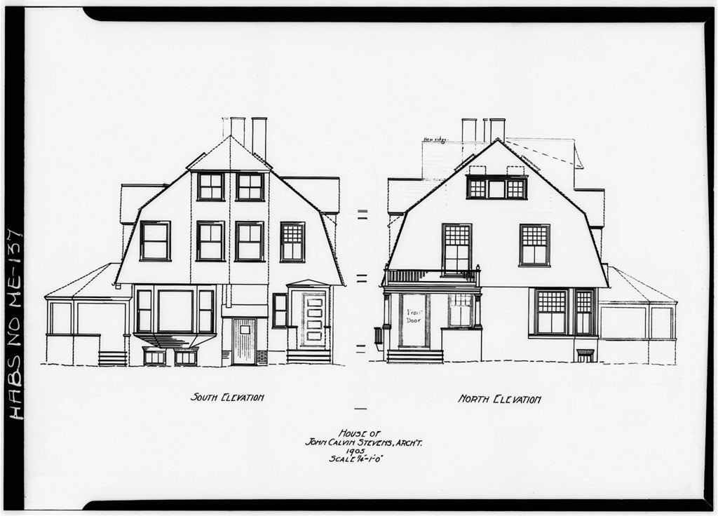 The shingle style christine g h franck for Calvin house