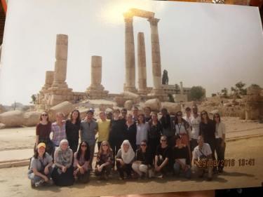 Group at Amman Citadel