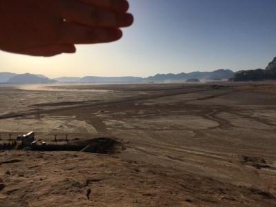 Camel race track in Wadi Rum