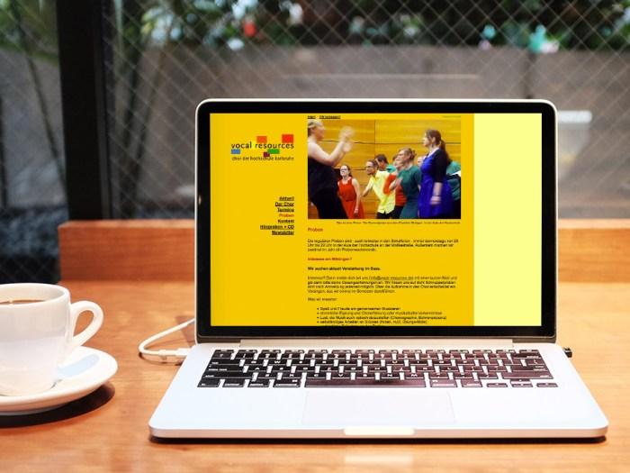 Gestaltung und Programmierung Website vocal resources   KERNgeschäft