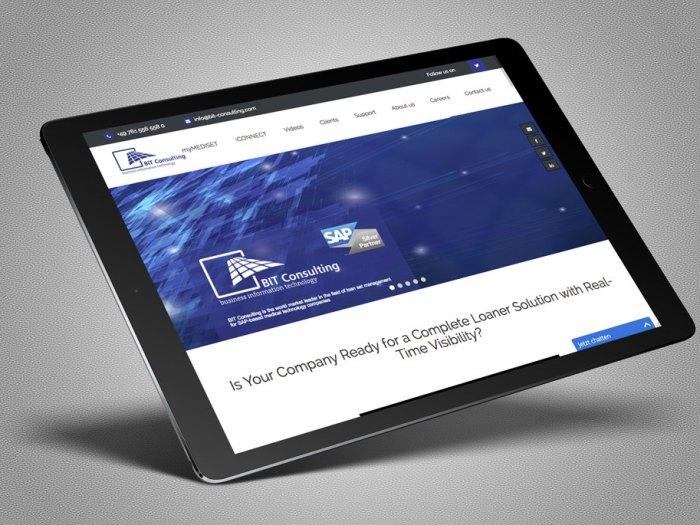 Screendesign und Konzept für BIT-consulting.com || kernGeschäft Christine Kern