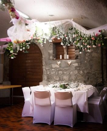 installation florale pour mariage