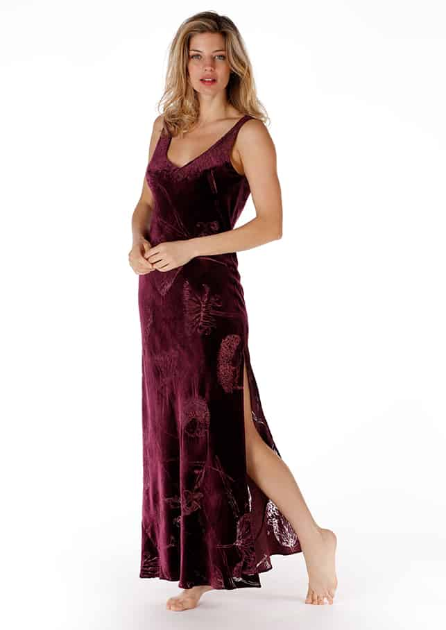 The Faberge Velvet Gown