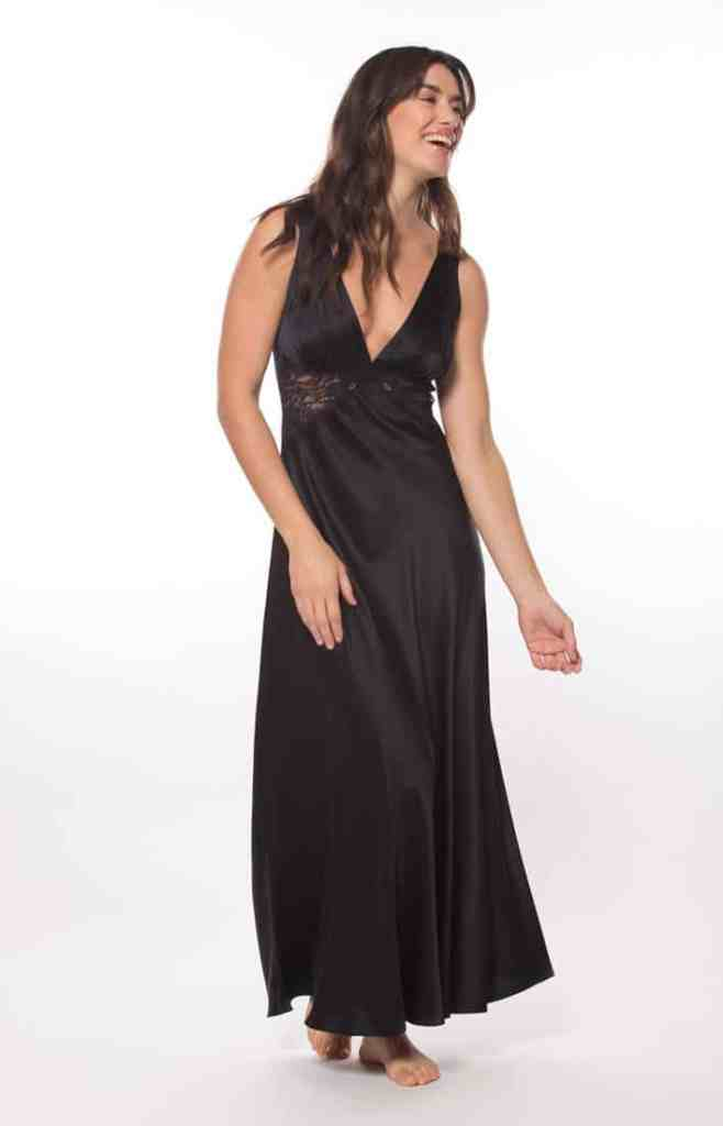 silk gown, silk dress, silk lingerie, christine lingerie, glamour gown, made in canada