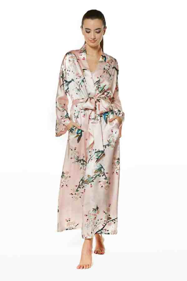 Vintage Blossoms Long Robe