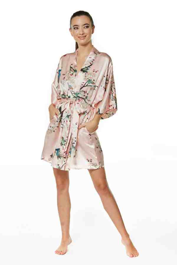Vintage Blossoms Short Robe
