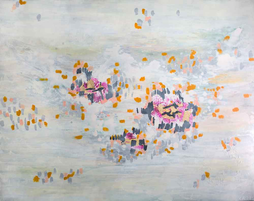 "The Golden Garden, 48""x60"""