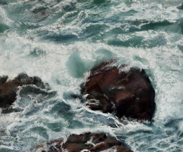 Grande marée sur les rochers de  Perros-Guirec