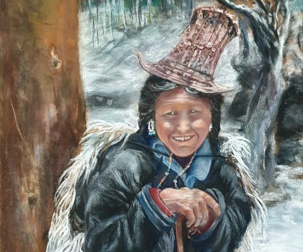 Gardienne de Yacks, Femme d'Himalaya