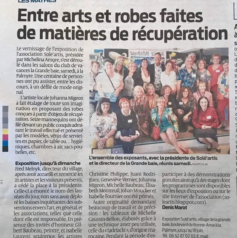 Le Salon de la Grande Baie à la Palmyre organisé par Solé Artis du 8 au 18 juin