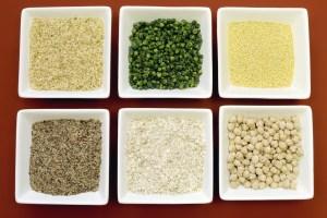 Gluten Free Grains Food - Brown Rice, Millet, Lsa, Buckwheat Fla