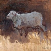 ewe-2009-watercolour-on-body-colour-approx-8x6cm-christine-porter