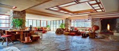 Fallingwater's living room