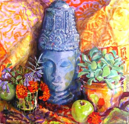 Carved Head with Apples [SOLD]