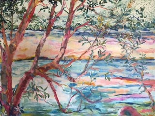 Banksias oil on canvas 75 x 102 $700.00