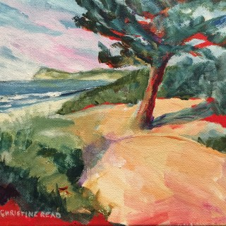 small format painting, acrylic on canvas, Lennox Head