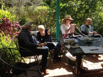'Fruit and Flowers' - lesson in the courtyard at the Nimbin Art Retreat