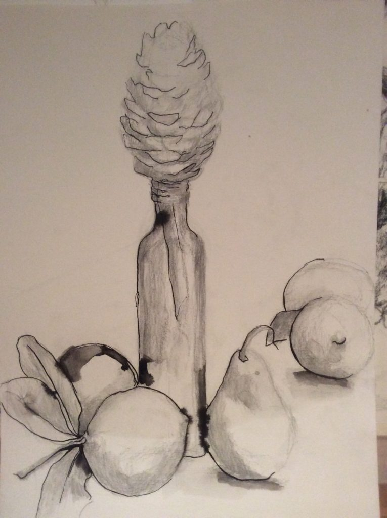Ink and Wash still life