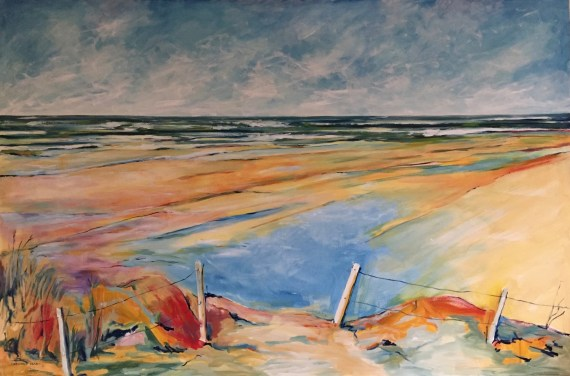 Beach Infinity, oil on canvas 100 x 150cm