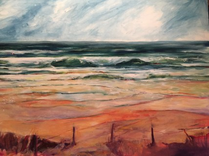 'Surf Symphony' acrylic on canvas
