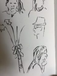 Just love the sketch of Ed in his hat!