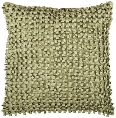 Green Ribbon Textured Accent Pillow