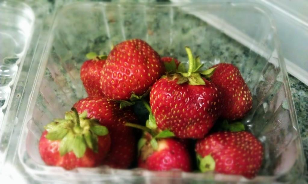 Organic CSA Strawberries...so good
