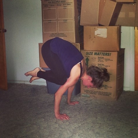 Bakasana, the closest I've even gotten to Crane Pose