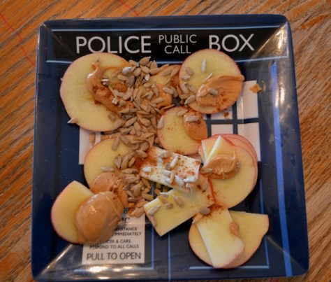 Snack - Organic Gala apple with cashew butter and sunflower seeds
