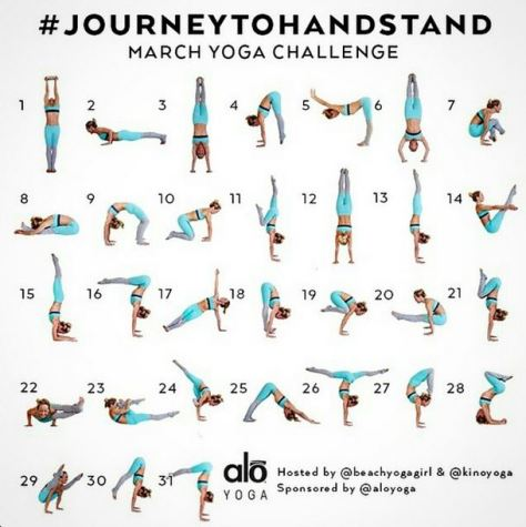 Journey To Handstand March Yoga Challenge