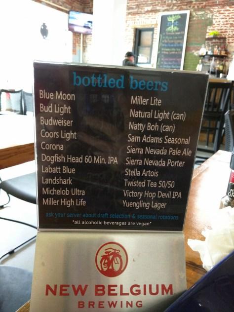Root of Lancaster Beer List