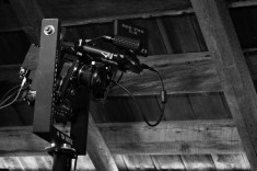 Behind the scenes camera and equipment during the filming of the Been A Long Time music video.