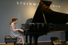Maisie Thompson performing at Steinway & Sons Recital