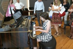 Maisie performing at Steinway & Sons Recital