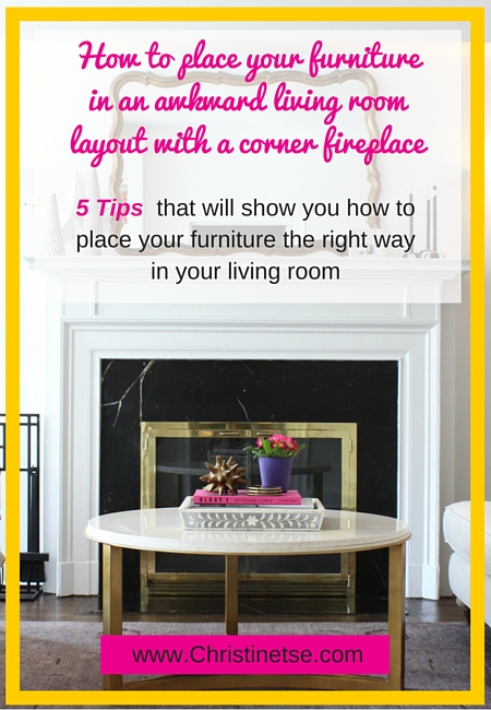 Q and a with christine awkward living room layout with a - Corner tables for living room online ...
