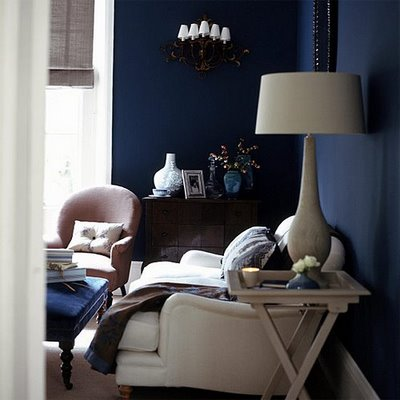 Dark blue interiors_colour for dark rooms