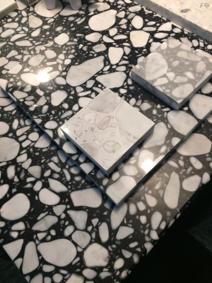 black and white terrazzo tiles_Christine Tse Interiors_London Interior Designer