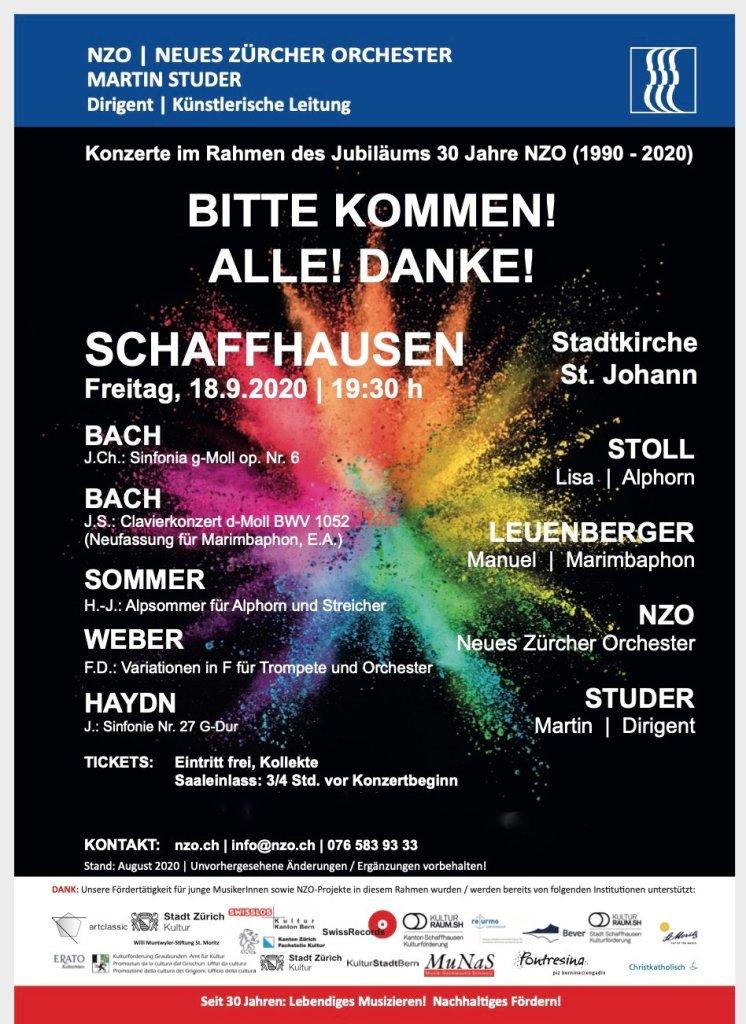30. Jubiläumskonzert NZO in Schaffhausen