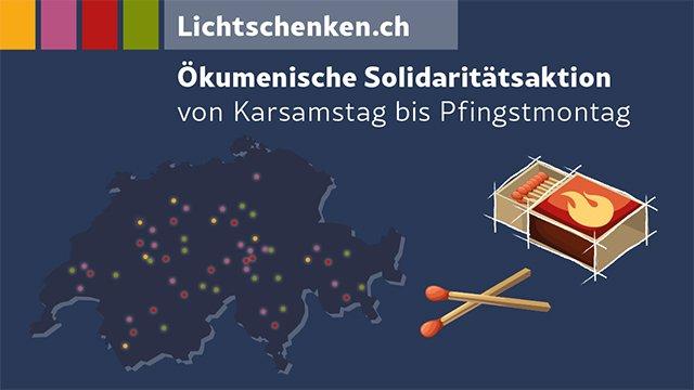 Lichtschenken.ch: Ökumenische Solidaritätsaktion ruft zum Gedenken, Hoffen, Danken und Verbunden sein auf
