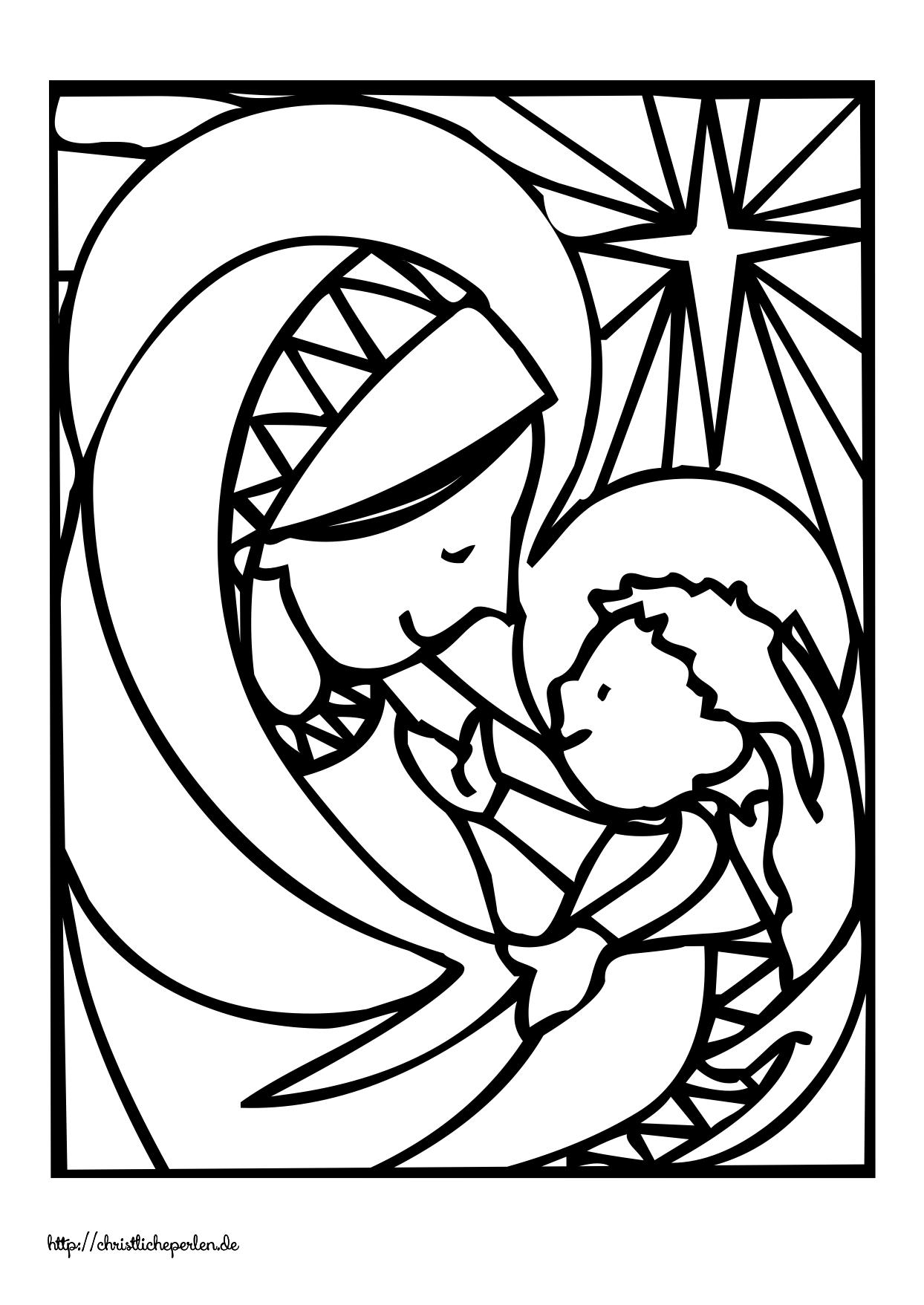 Neue Ausmalbilder Zu Weihnachten Christliche Perlen