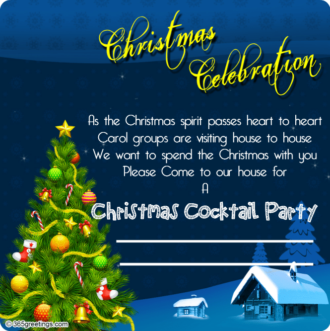 Christmas Party Invitation Ideas Office Wording