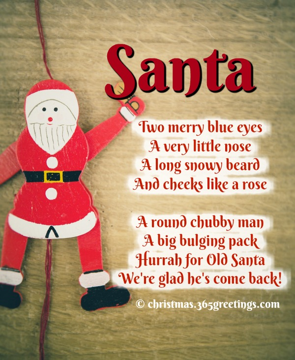 Short Christmas Poems Christmas Celebration All About
