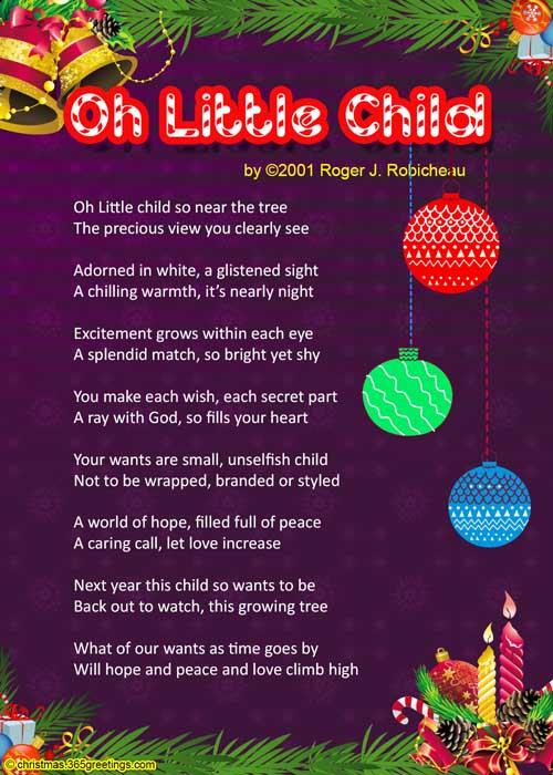 Christmas Poems For Kids Christmas Celebration All