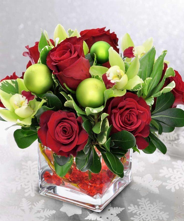 Christmas Floral Topiaries